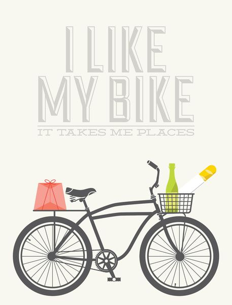 We like our bikes, too!