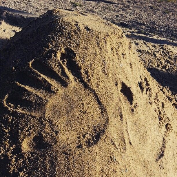 hands and sand #sand