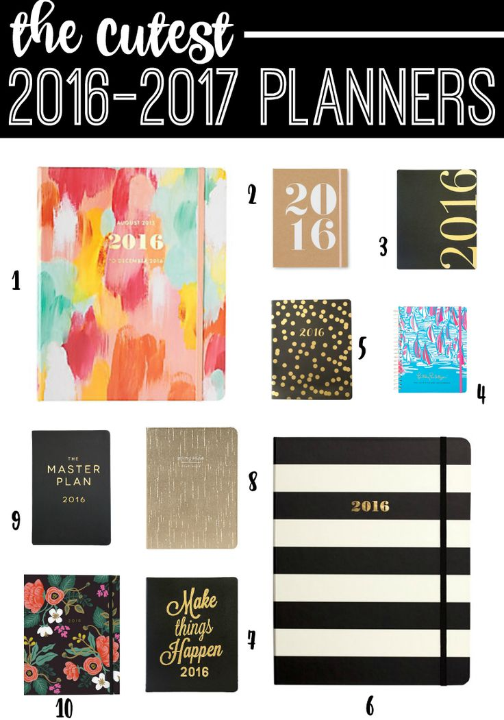 Cutest 2016-2017 planners, cute planners, 2016 planners, Stephanie Ziajka, Diary of a Debutante