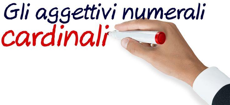 Gli aggettvi numerali cardinali