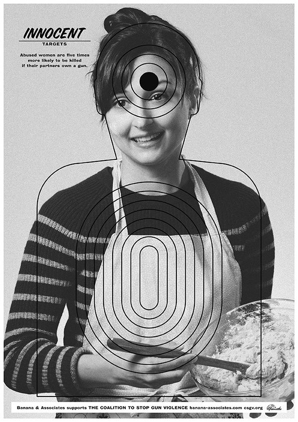 Anthony Burrill – Poster for Innocent Targets campaign