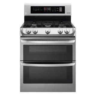 LG® 6.9 cu ft Gas Double-Oven Convection Range at Menards®: LG® 6.9 cu ft Gas Double-Oven Convection Range