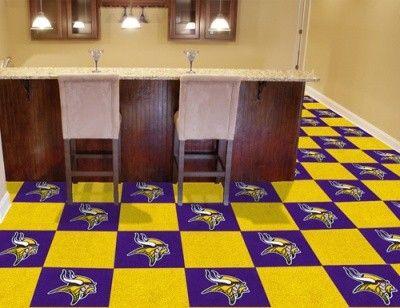 Minnesota Vikings 20 Pack Of 18in Area Sports Room Carpet Rug Tiles