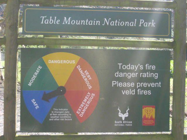 Fire hazard info.