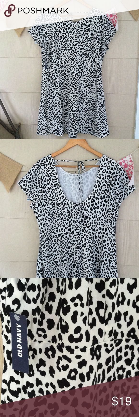 """Oldnavy cheetah dress Never worn and hits above the knee (I'm 5'10"""") Old Navy Dresses Midi"""