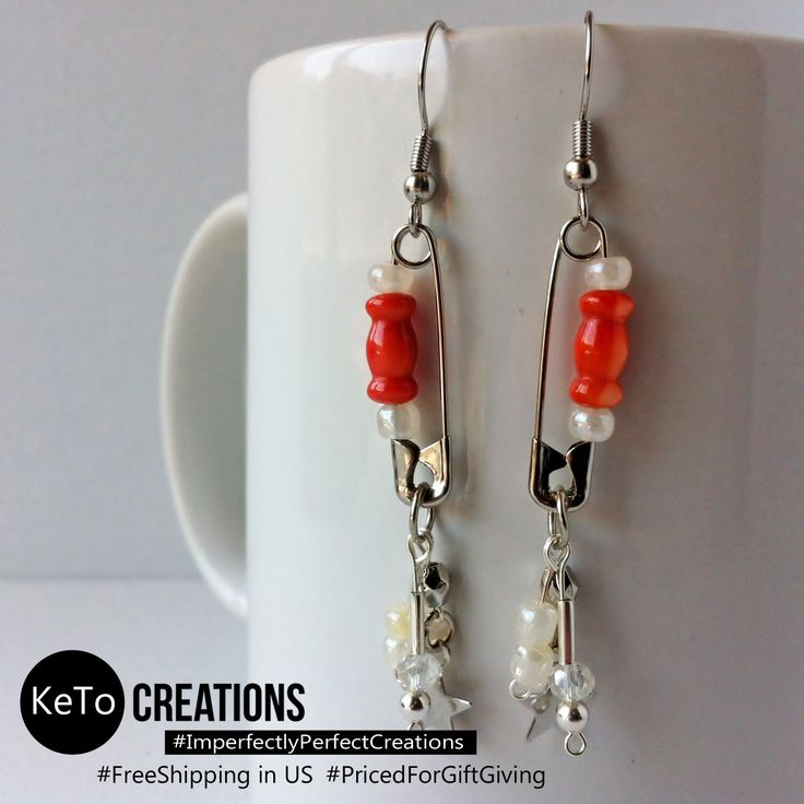"""""""Melon Charm Pins"""" by KeTo Creations #HandCrafted #Earrings #SafetyPins #GiftsForHer #ImperfectlyPerfectCreations #FreeShipping in the US #PricedForGiftGiving #JustOpenedOurStore #ShopLikeWeHave5StarRating #WeShipASAP #PinNowViewLater"""