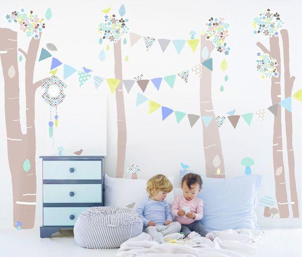 vinilos infantiles schmooks wall stickers Vinilos de tela para una habitación infantil.