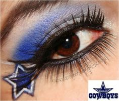 #dallas #cowboys #sundayfootball #MNF #eye #makeup - #NFLfans www.youniqueproducts.com/wendyskorupski