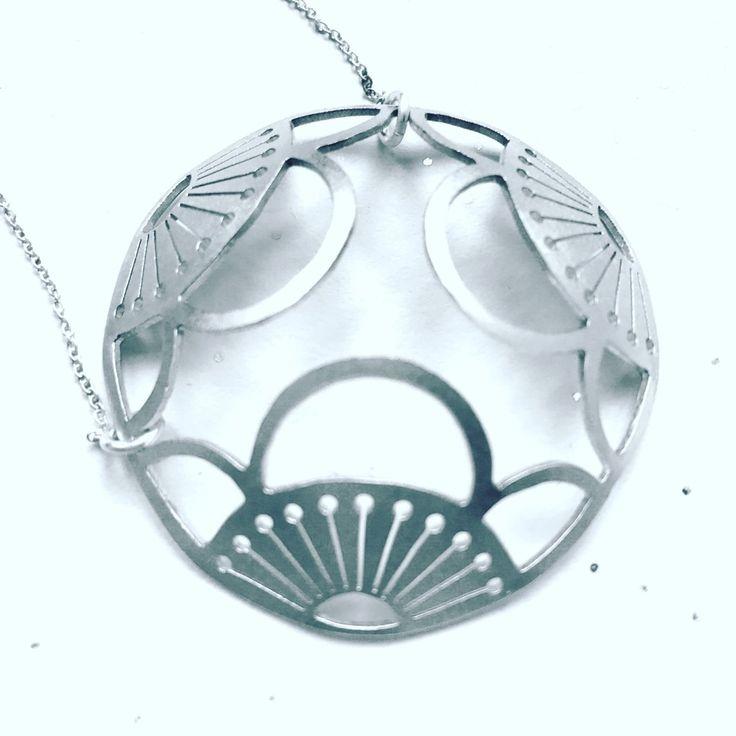 Domed Sterling Triple Moeko Pendant                      – Ceeb Wassermann Jewellery