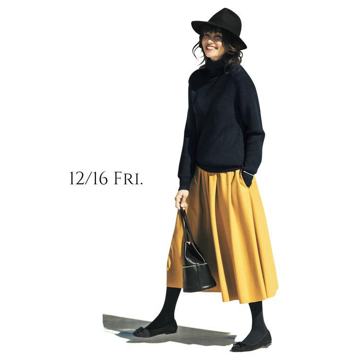 気持ちが前向きになる元気なマスタード色のスカートでリフレッシュ!Marisol ONLINE 女っぷり上々!40代をもっとキレイに。