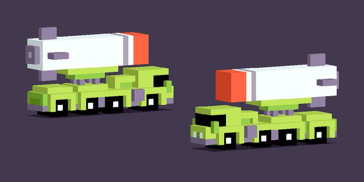 Working on some new vehicles for #crossyroad D: