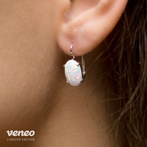 Ariana. Silver or Gold Opal Earrings all sizes by Veneo on Etsy, $77.00