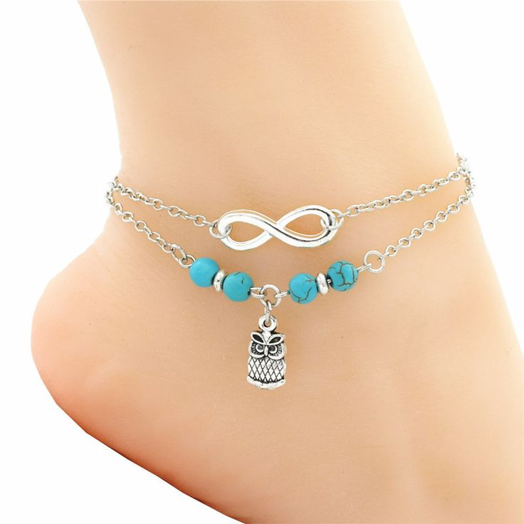 Fashion Infinity Owls Charm Anklets for Women Sexy