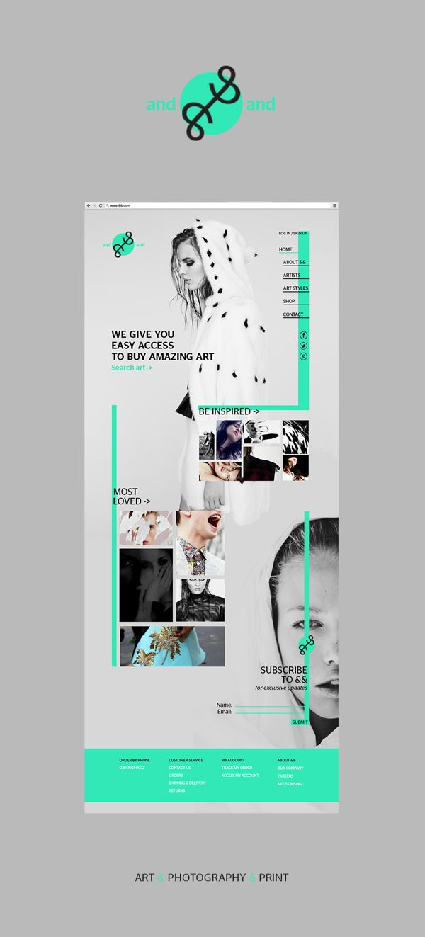 And And Web Design by Rebecca Moores, via Behance