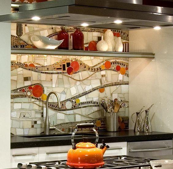 65 Kitchen Backsplash Tiles Ideas Tile Types And Designs: Best 25+ Mosaic Tile Art Ideas On Pinterest