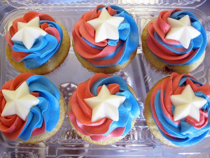 Captain America Inspired Cupcakes!