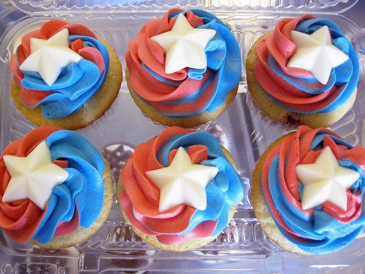 Captain America Inspired Cupcakes!