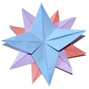 etoile origami simple 12 branches tte modeler une petite dcoration de sapin de nol - Decoration De Noel En Origami