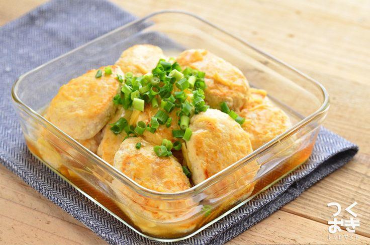 豆腐と鶏ひき肉で作る、ふんわり食感が美味しいヘルシーハンバーグのレシピ。豆腐ハンバーグととても相性の良い、しょうがを入れた和風あんかけでいただきます。味も見た目も優しいメインおかずです。冷蔵保存4日