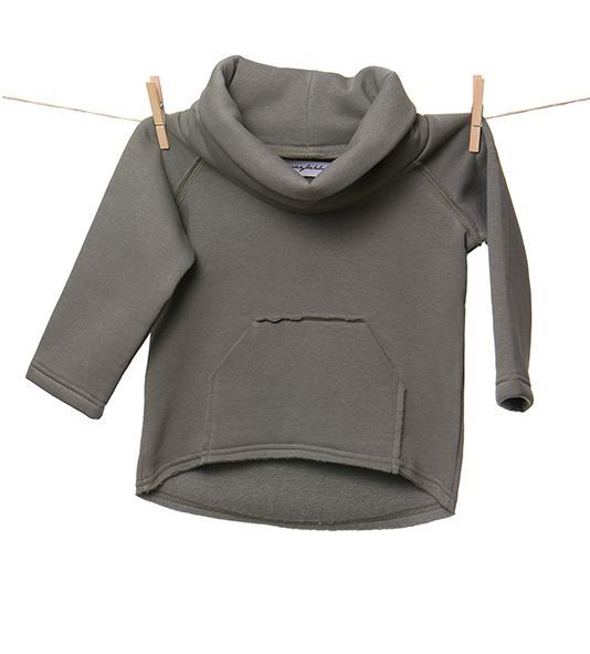 Winter Back khaki - ciepła bluza z kominem.