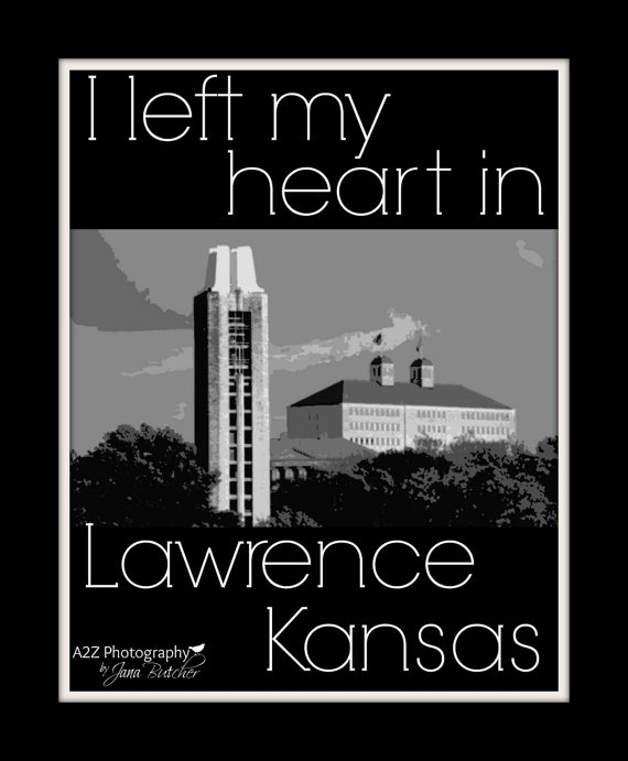 I left my heart in Lawrence Kansas 8x10 Photo by a2zphotography, $20.00 see more at www.facebook.com/a2zphoto #rockchalk #kubball #lawrence #kansas #gift #decor