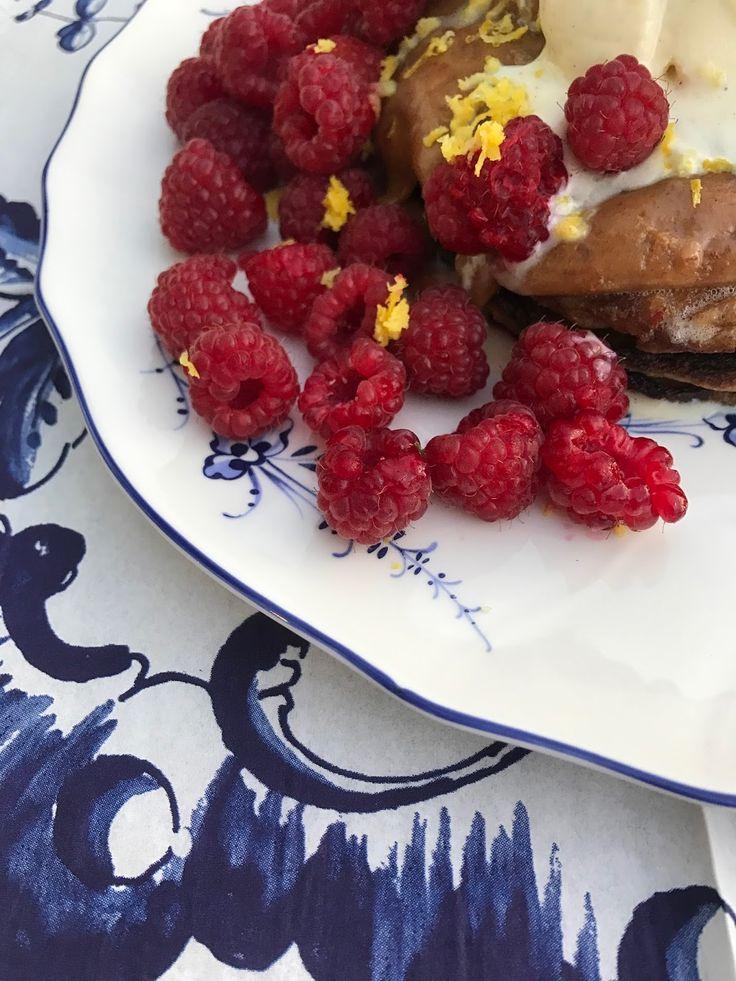 Lemon ricotta pancakes with a salt honey dressing  STELLAR STORIES BLOG