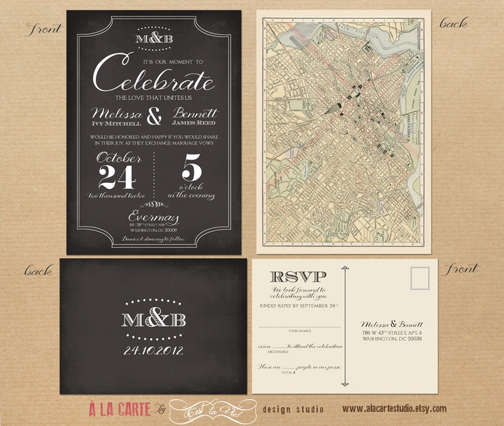 58 best Graphic design invitations images on Pinterest Charts - wedding invitation design surabaya