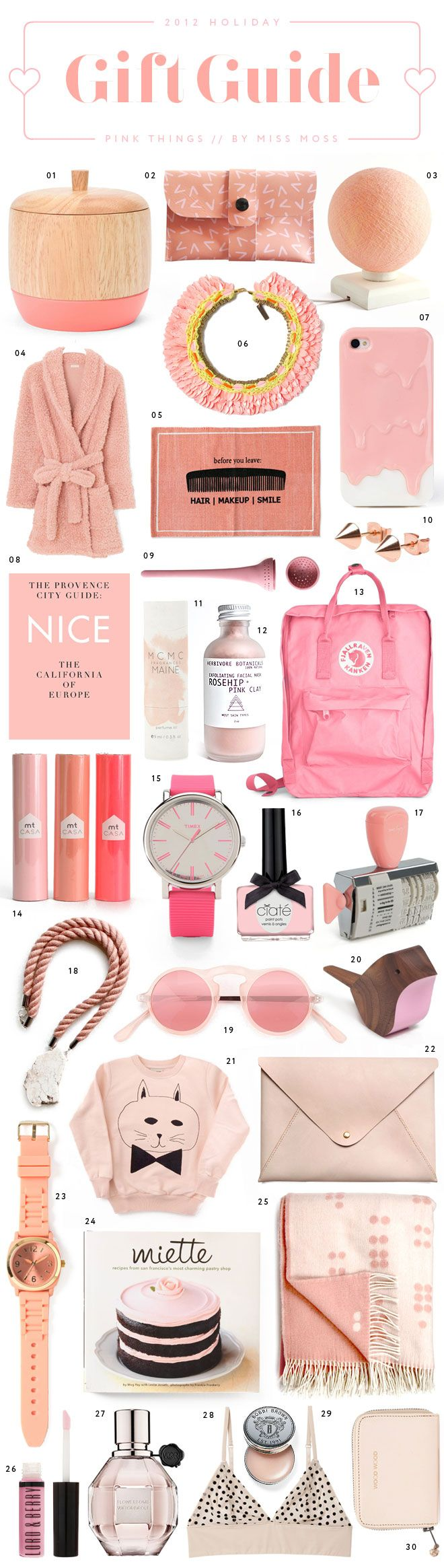 Gift Guide: Pinks Things by Miss Moss