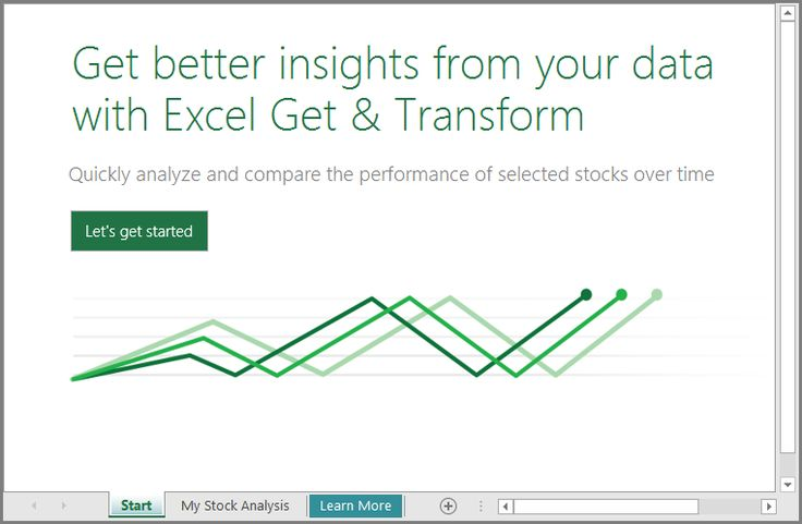 Get started with the Stock Analysis template