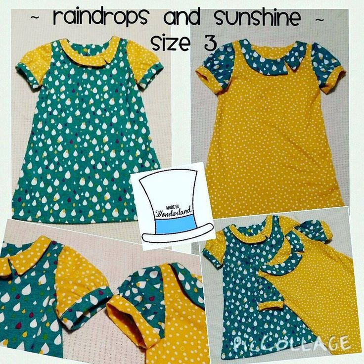 Handmade by Made In Wonderland Spring Raindrops and Sunshine Gallery Dresses. For more information, please visit https://www.facebook.com/HandmadeMarkets