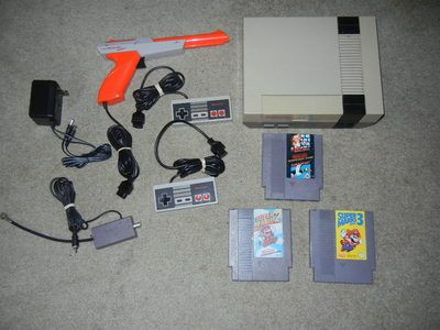 Nintendo NES System w Mario 1 3 Duck Hunt New 72 Pin Free US Shipping | eBay I wish I still had mine!