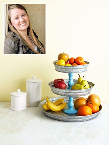This tiered tray stand made from old cake pans could be the best investment of 20-minutes this week!