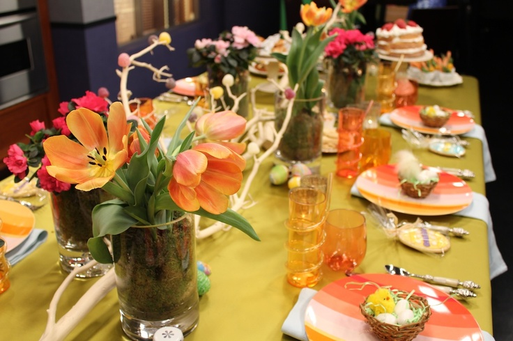 Assorted Flower Arrangements With Moss Inside Glass Vases