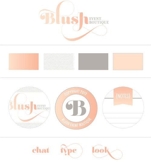 brandlogo mood board for blush event boutique design by semicolyn salon nailsnail - Nail Salon Logo Design Ideas