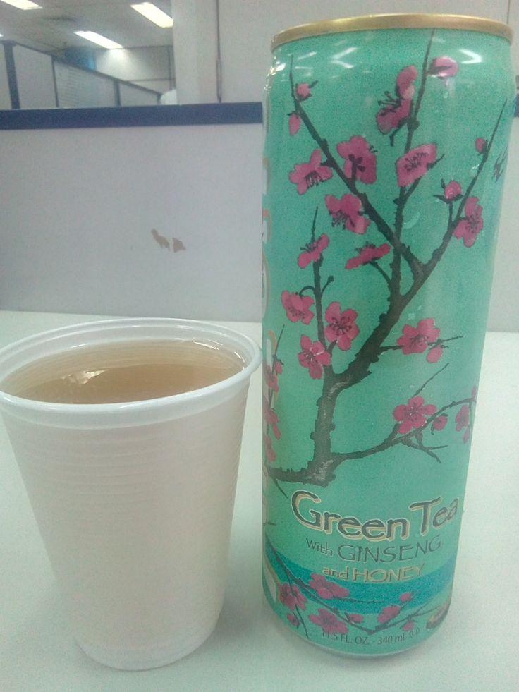 #bebida #sobremesa #cha #suco #AriZona #verde #ginseng #mel #saboroso #acido #azedo #artificial #latinha #simples #flores #acucar #doce #XinGourmet #EmporioChinatown #Chinatown #green #tea #honey  AriZona Green Tea with Ginseng and Honey - R$6 em Emporio Chinatown.