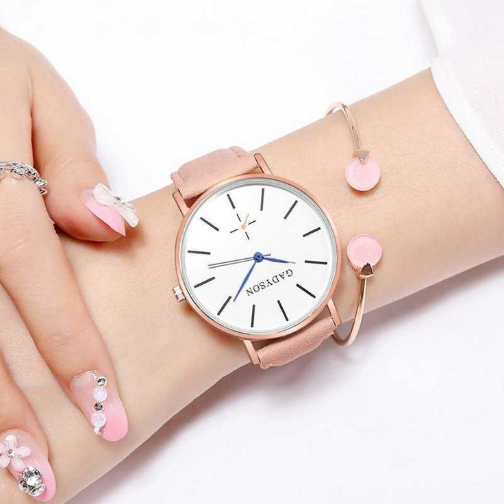 Flower Leather Quartz Vogue Women's Watches Bracelets Montre Femme Fashion WristWatch Simple Watches Zegarek damski Clock 2019