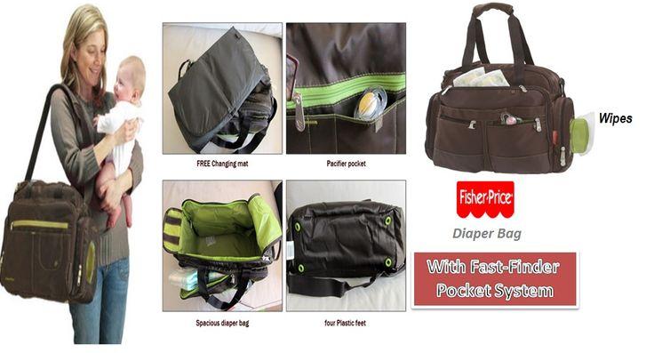 """Fisher Price Diaper Bag with Fast Finder Pocket system,  Brand : Fisher Price Diaper bag dimensions: 16"""" x 12"""" x 7""""  Visit Us : Grosir Perlengkapan Bayi dan Anak Terbaik di Jakarta ONLINE Via Web : www.k-babynkids.com SMS ke 08170759660 BB ke 281341B0"""