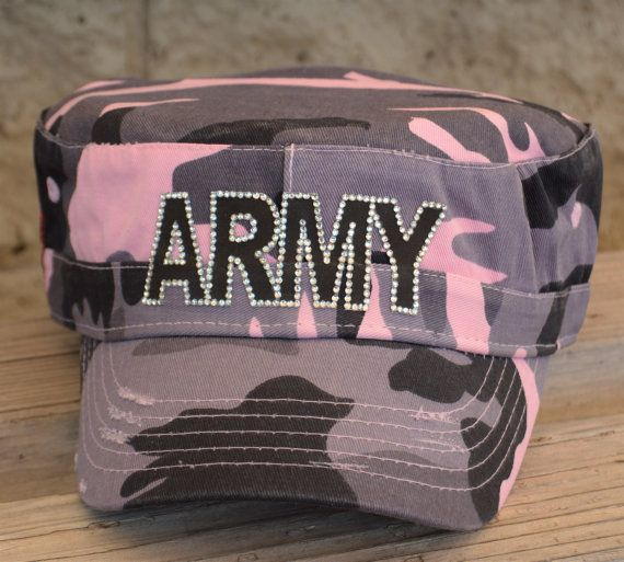 Army Wife Pink and grey military camouflage cadet by CapsbyKari