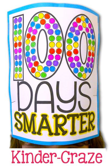100th Day Hat for Hundredth Day of school celebrations! Printables ideas for 100th Day of school.