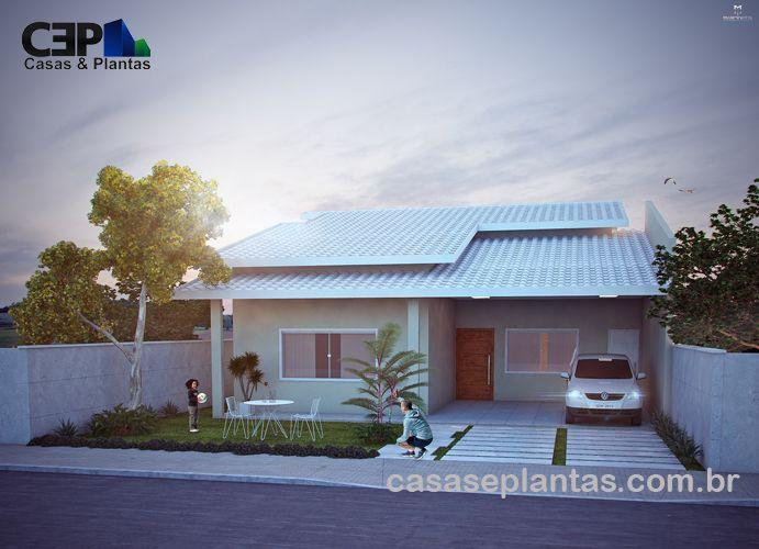 Casa cinza telhado aparente fachada dia projetos para for Fotos de casas modernas com telhado aparente