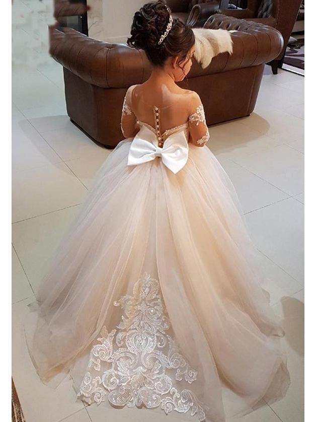 b0478eb12 Princess Ball Gown for Kids Long Sleeve Flower Girl Dresses ARD1226 ...