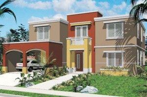 Fachadas de casas de 2 pisos pequeñas