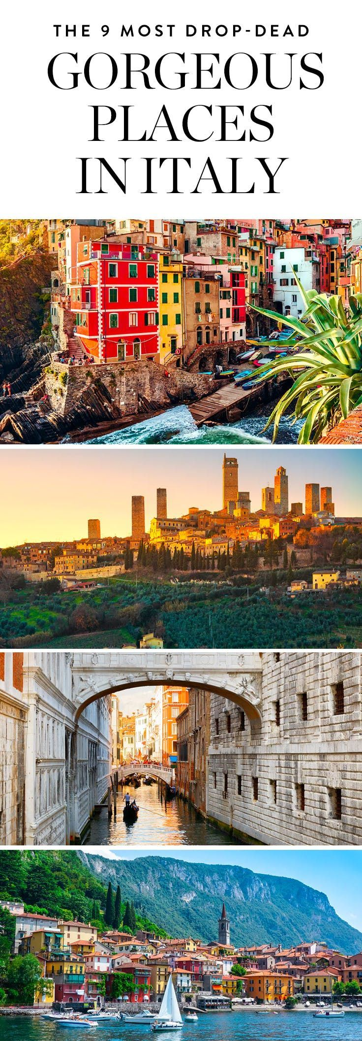 The 9 Most Hands-Down, Drop-Dead Gorgeous Photogenic Places in Italy via @PureWow