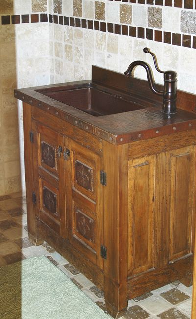 Delightful Custom Furniture And Top   Custom Furniture And Top With A Hammered Copper  Sink And Vanity