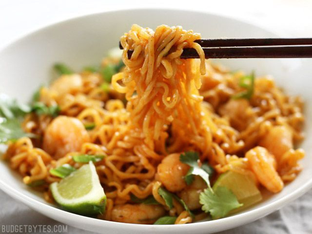 Lime Shrimp Dragon Noodles are a fast, easy, and inexpensive alternative to take out. This version features tender shrimp and fresh lime.