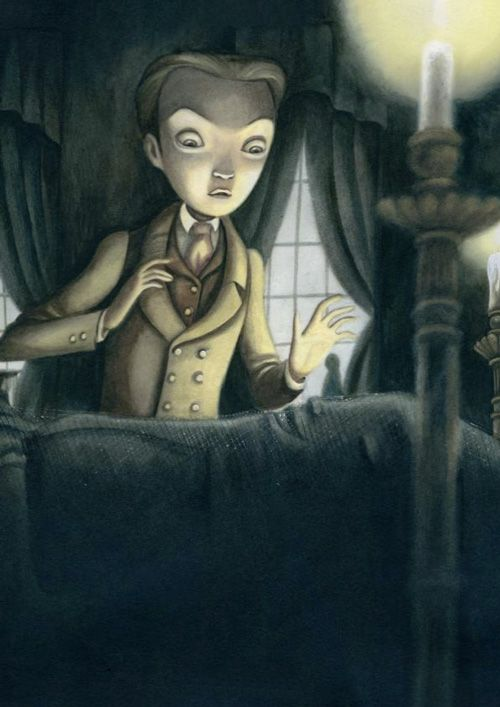 Benjamin Lacombe - Illustration - Haunting Illustrations for Poe's Tales of the Macabre