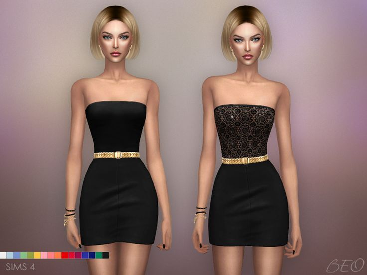 Mini dresses - Mila for The Sims 4 by BEO
