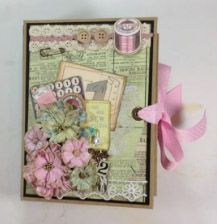 Envelope mini album using Kaisercraft Needle & Threads Paper collection