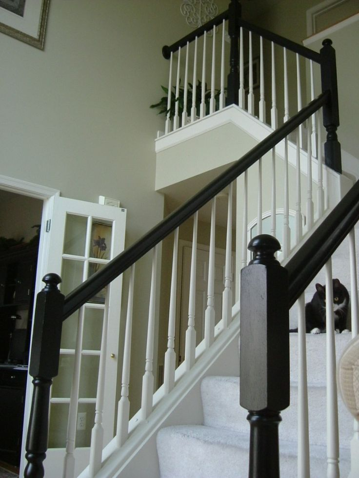 Painted The Yellowy Oak Staircase Banister Around My