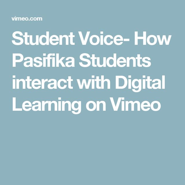 Student Voice- How Pasifika Students interact with Digital Learning on Vimeo